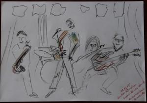 Live Zeichnung Bluesband